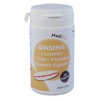 Ginseng + Lecithin + Zink + Vitamine Powerfit Kapseln