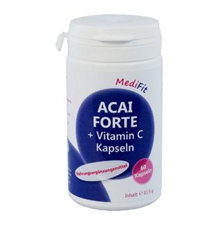 Acai Forte 400mg + Vitamin C Kapseln