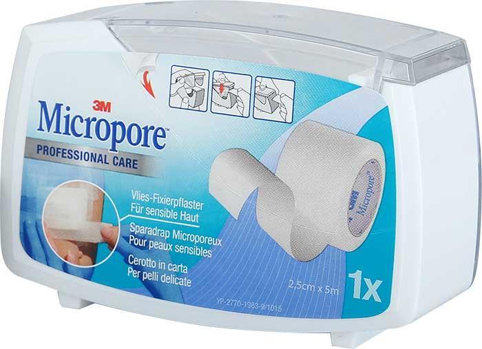 3M Micropore Dispenser 25 mm x 5 m