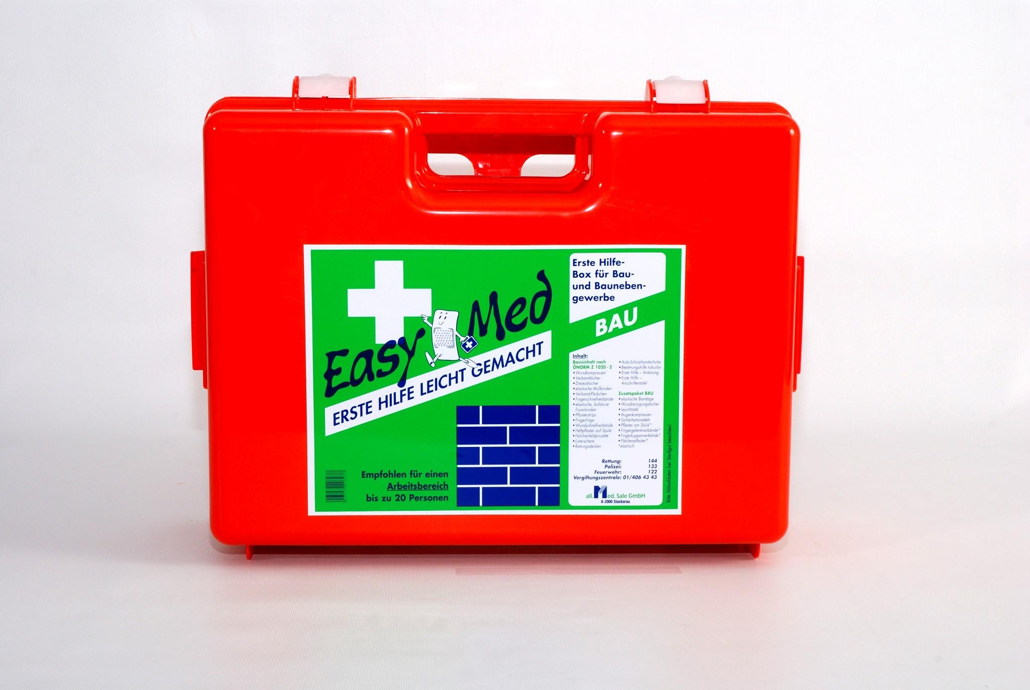 EasyMed Erste Hilfe Kasten Bau Type 2