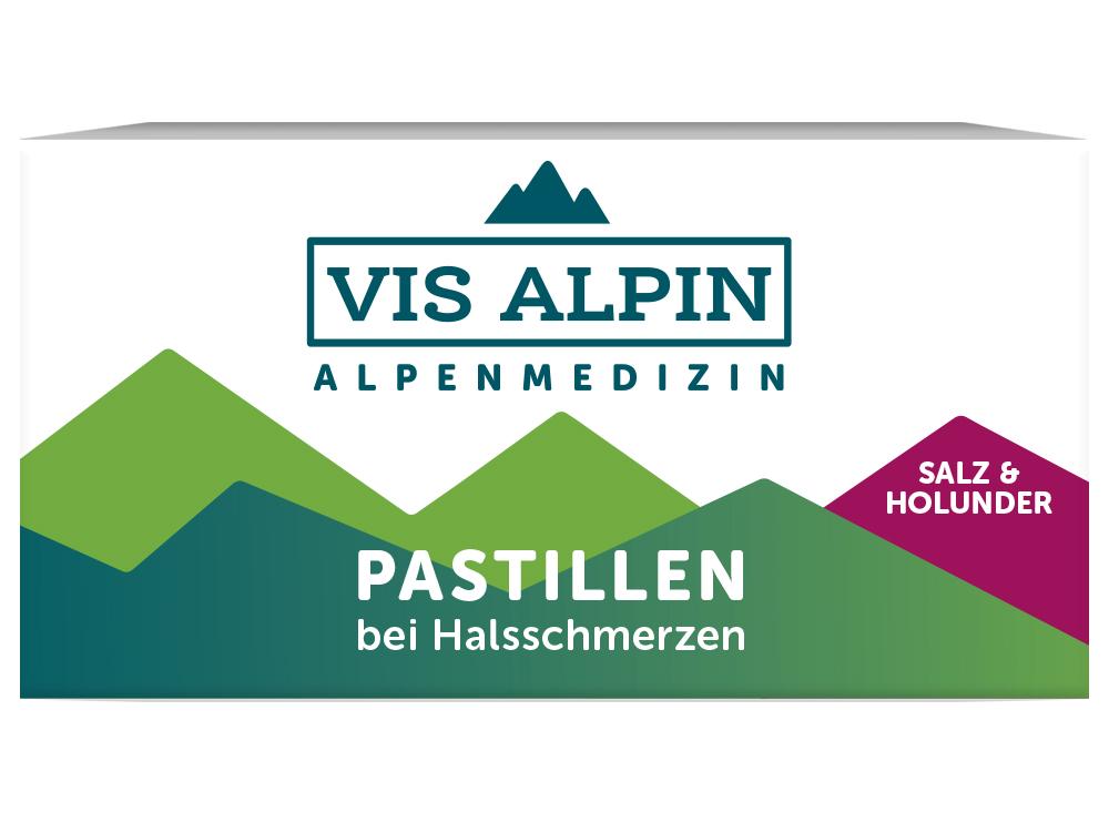 VIS ALPIN Alpensalzpastillen Holunder