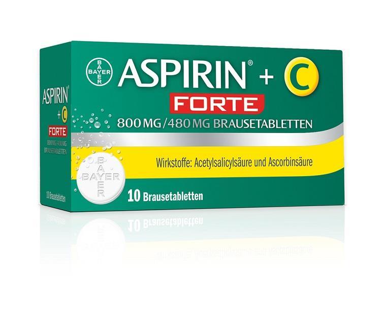 Aspirin+C forte 800 mg/480 mg - Brausetabletten