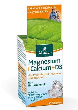 Kneipp Magnesium + Calcium + Vit. D3 150 Stk.