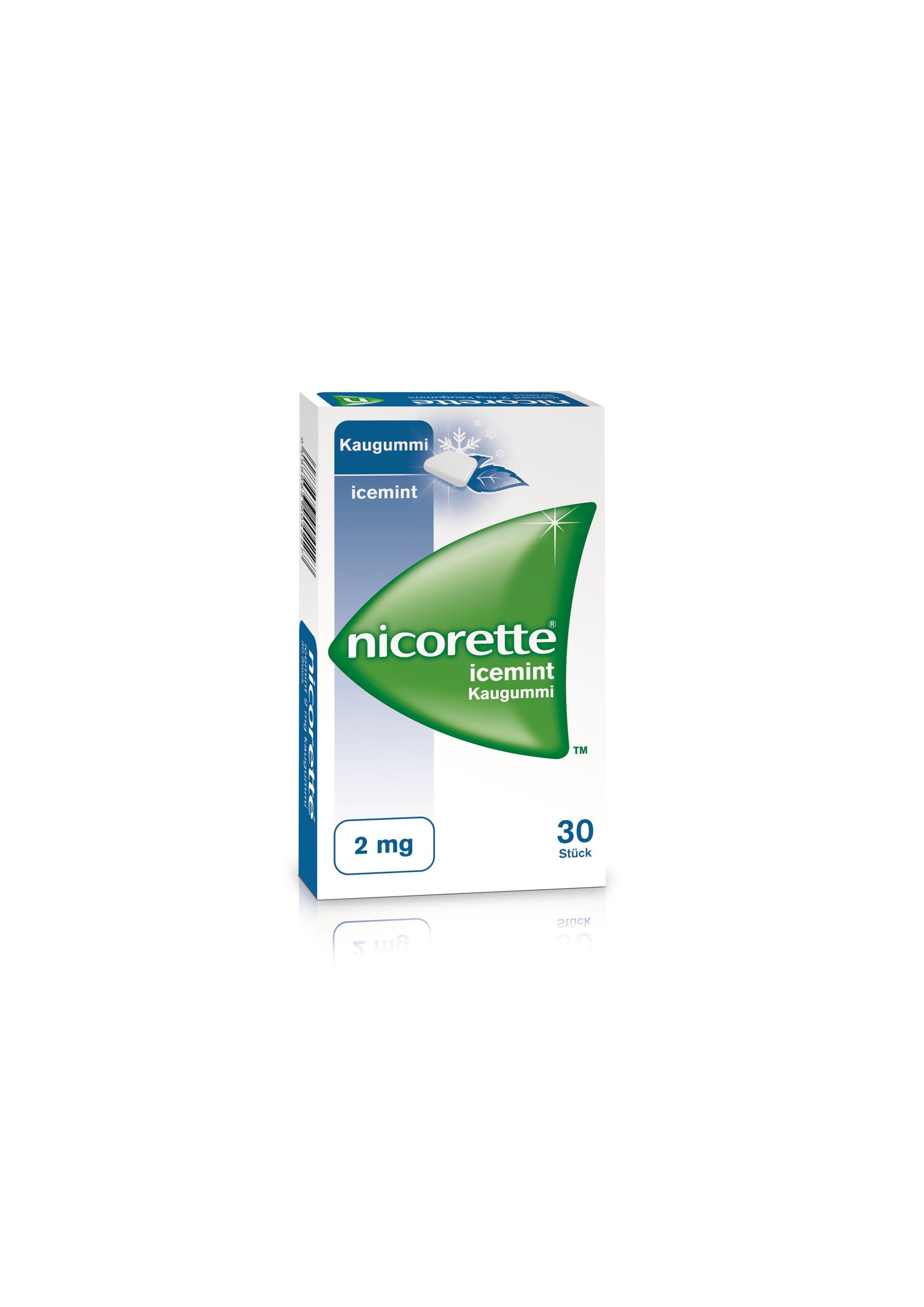 Nicorette Icemint 2 mg - Kaugummi zur Raucherentwöhnung