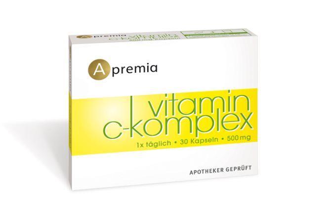 Apremia Vitamin C-Komplex 500mg 30 Kapseln