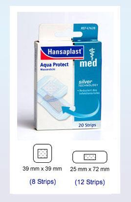 Hansaplast med Aqua protect Strips 20 Stück