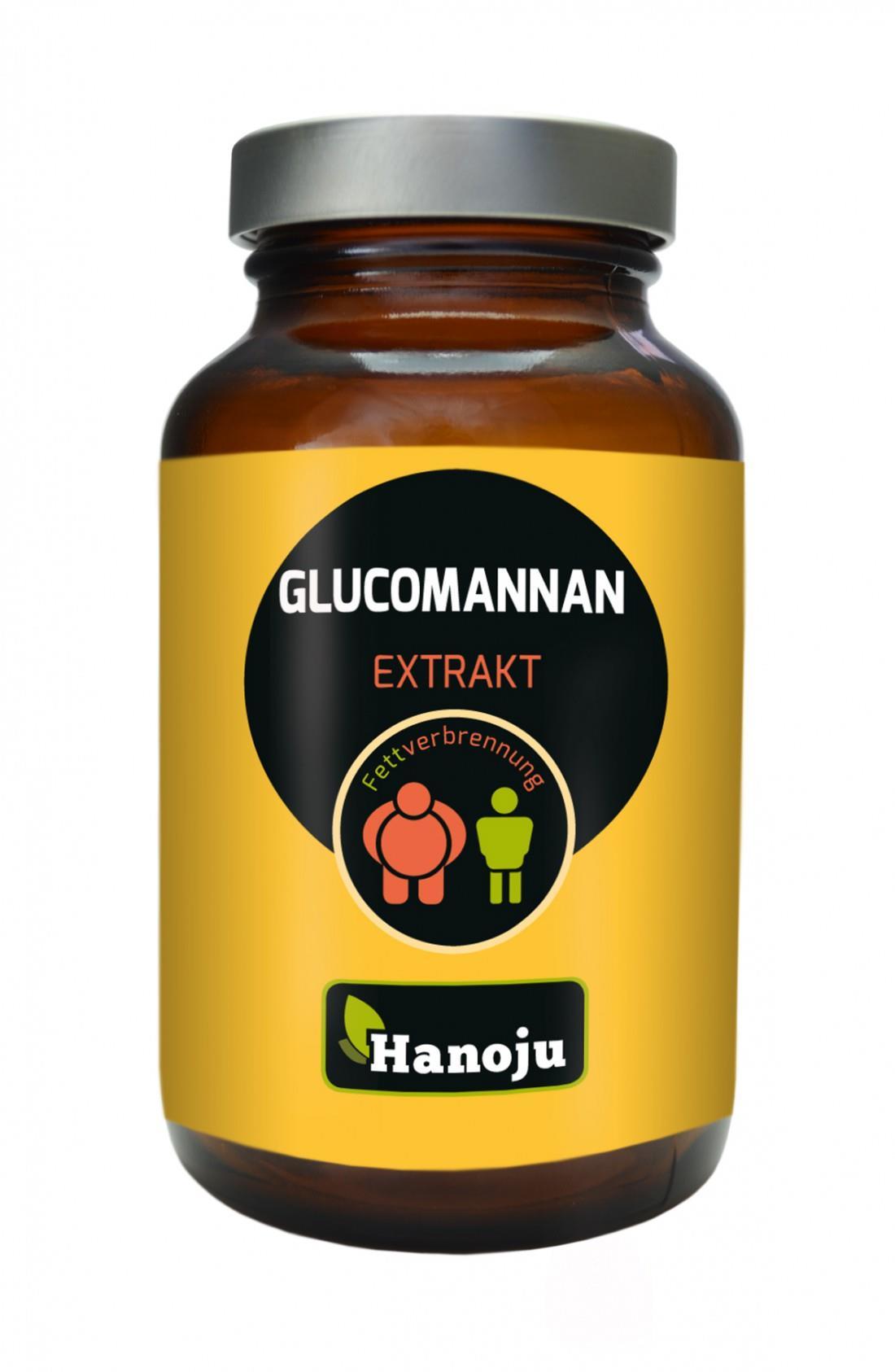 Glucomannan Extrakt Kapseln Hanoju