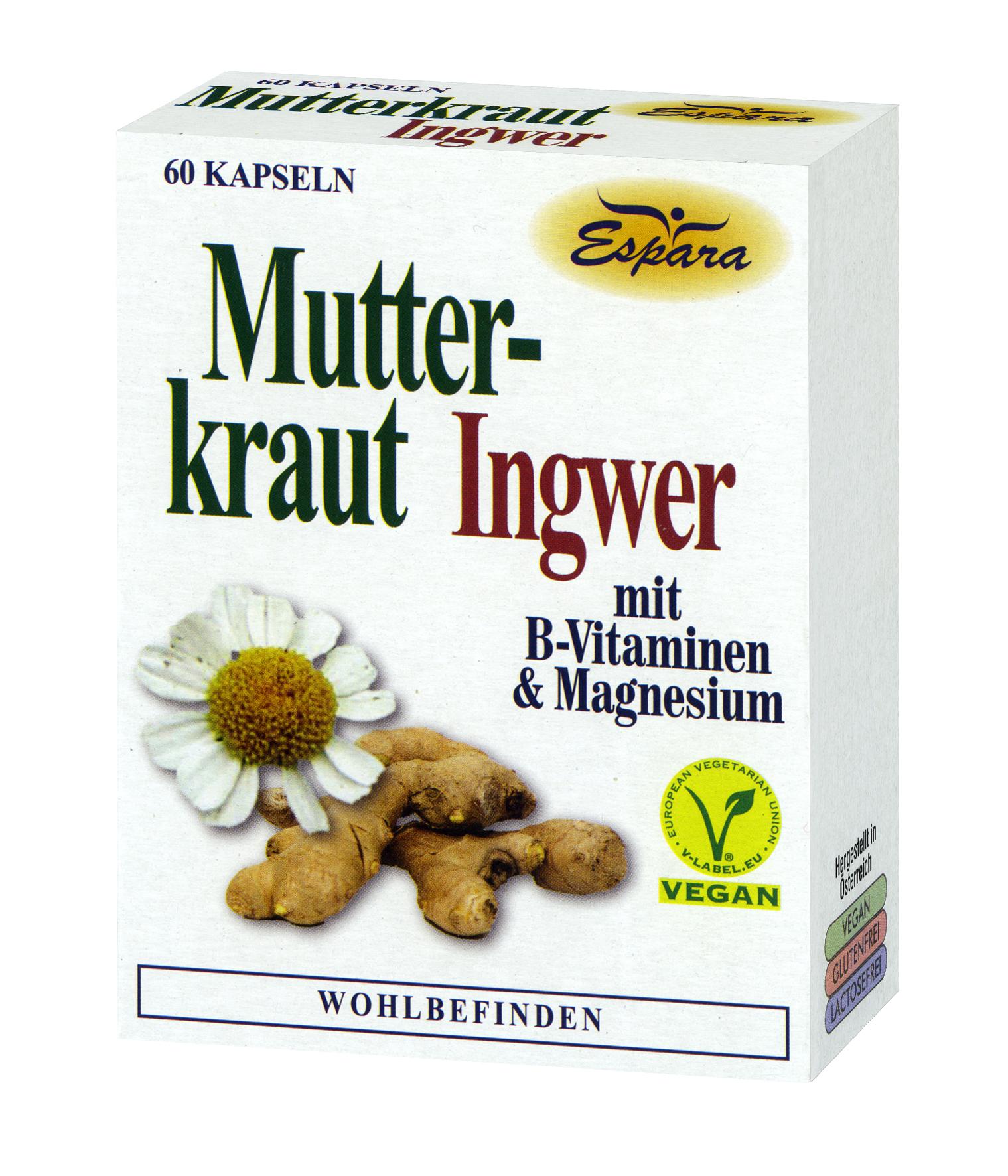 Espara Mutterkraut-Ingwer Kapseln