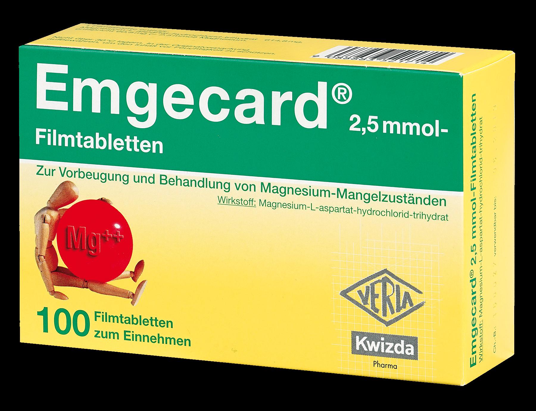 Emgecard 2,5 mmol - Filmtabletten