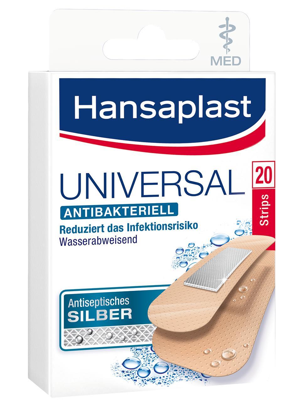 Hansaplast Universal MED antibakteriell Strips 20