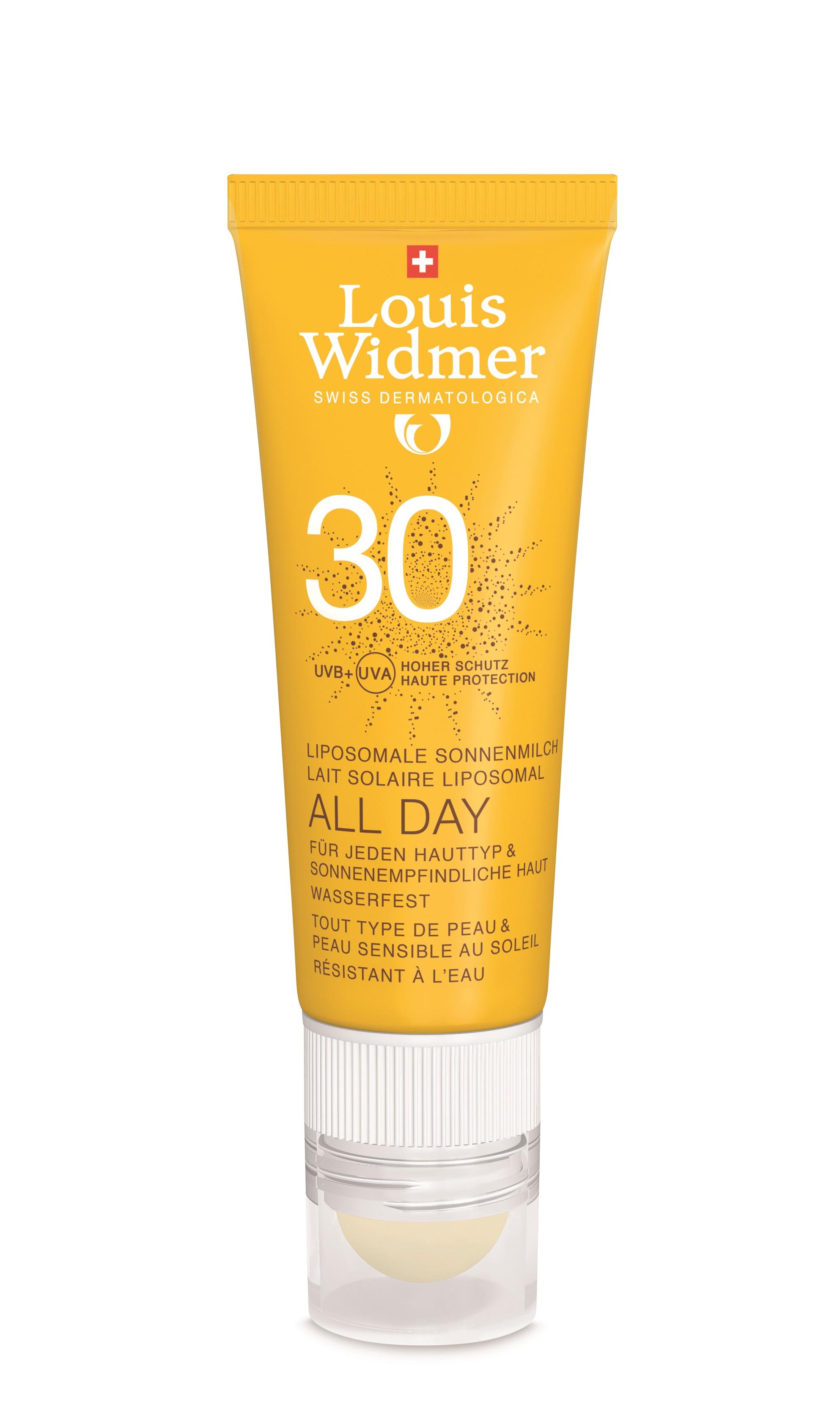 Widmer Sun All Day 30 mit Lippenpflegestift 50