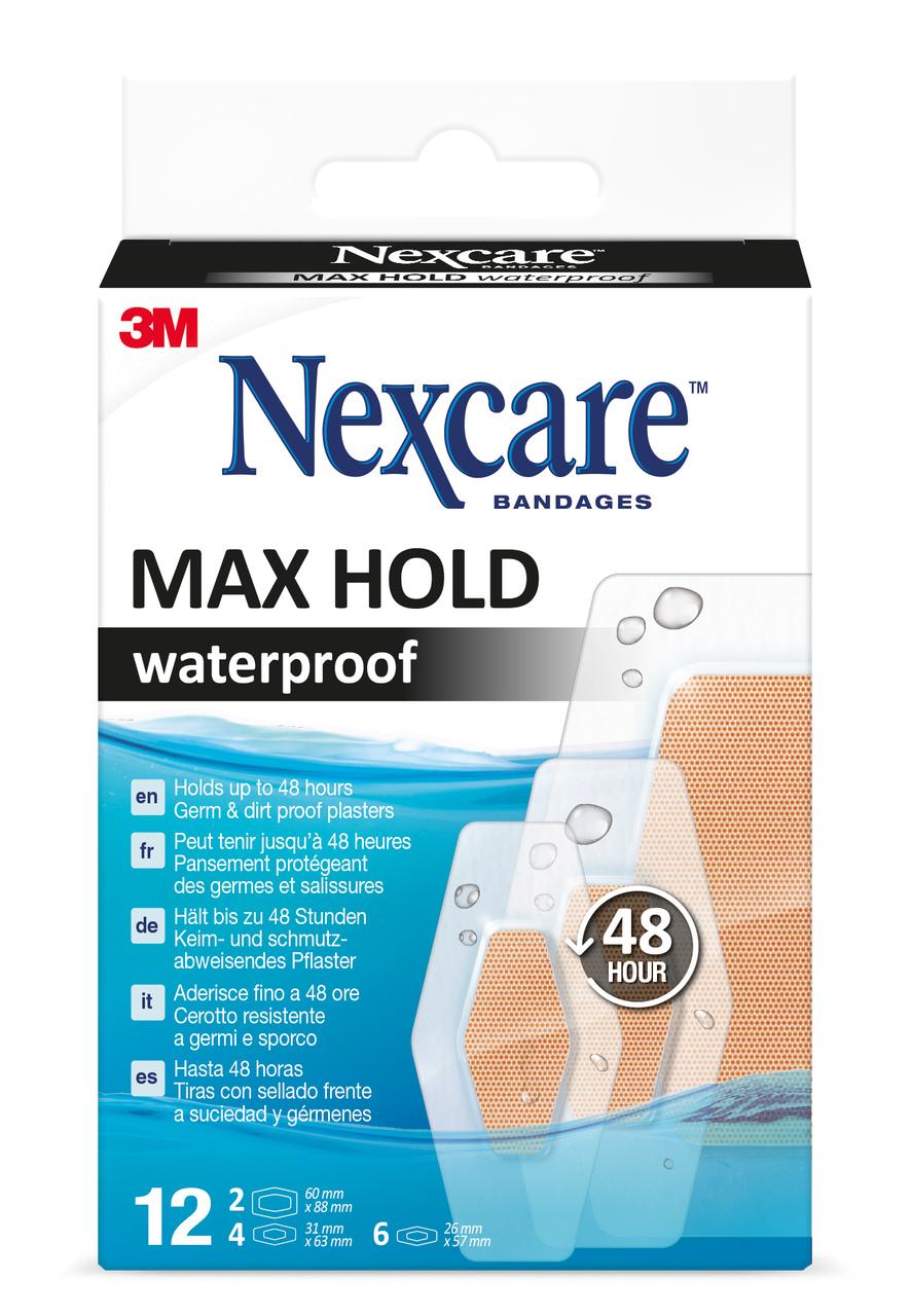 Nexcare™ Max Hold Waterproof, 3 Grössen assortiert, 12 Stk