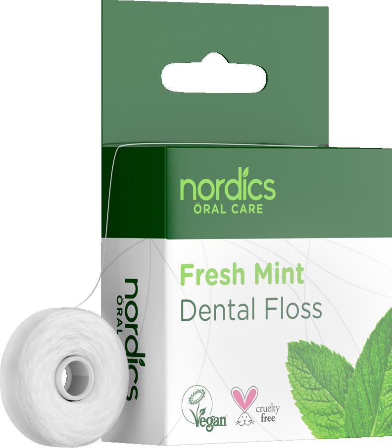 Nordics Zahnseide Öko frische Minze aus Maisstärke