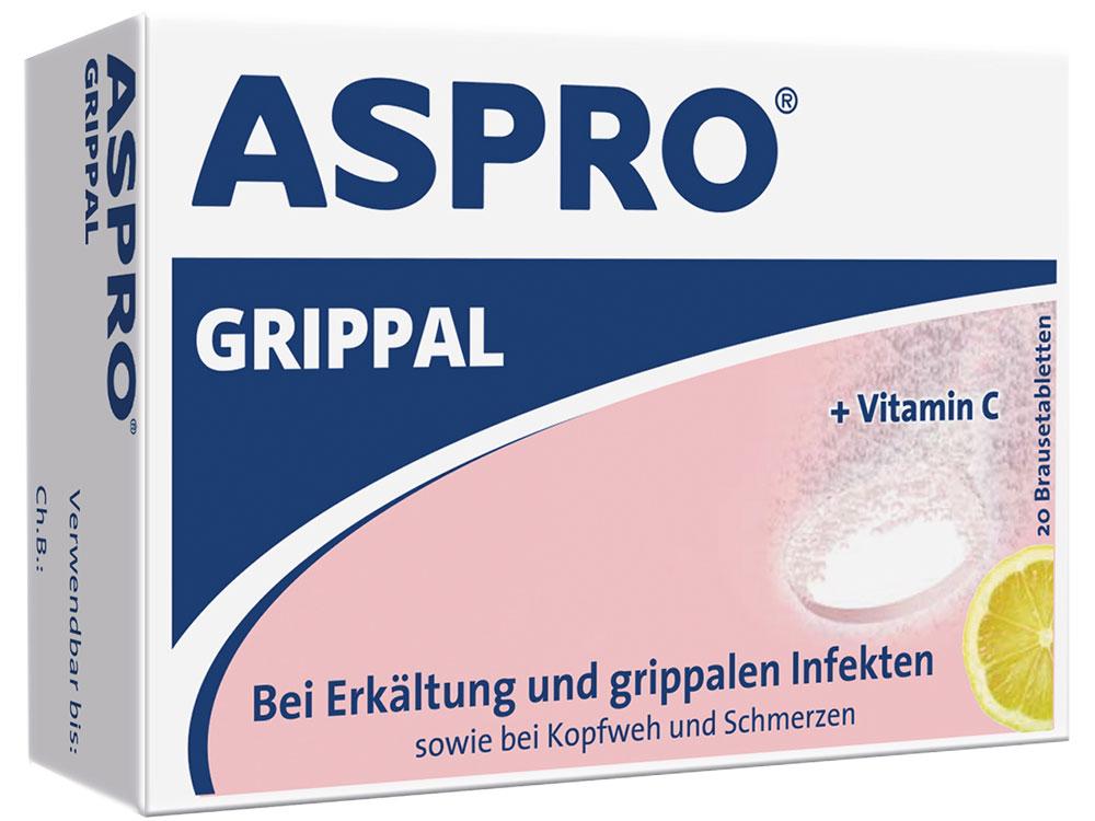 Aspro Grippal 500 mg ASS + 250 mg Vit C - Brausetabletten