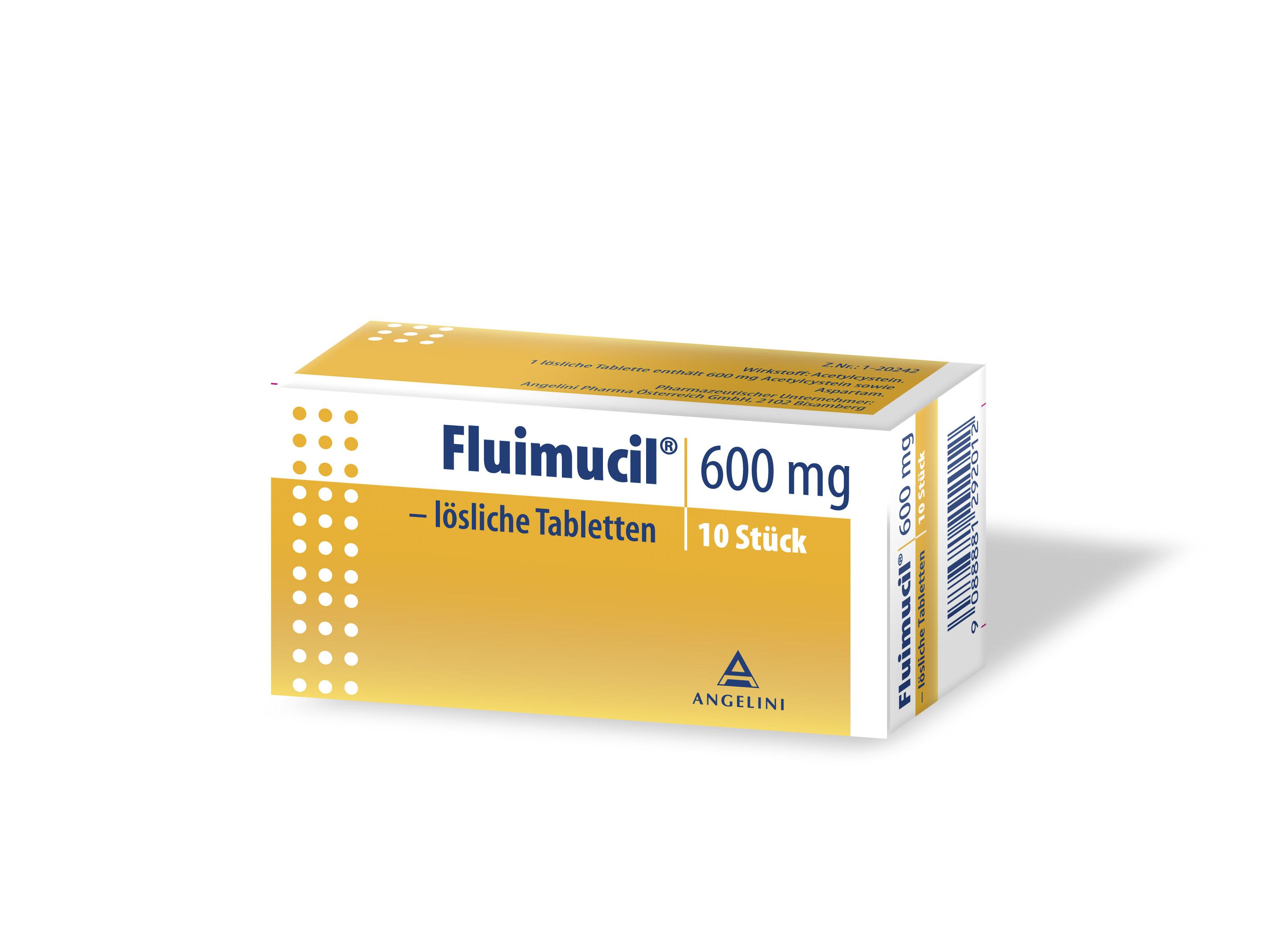 Fluimucil 600 mg - lösliche Tabletten